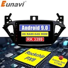 Eunavi 2 din coche radio 4G + 64G android 9,0 para Opel Corsa E 2014, 2015 de 2016 GPS Navi WIFI estéreo de coche PX6 2,0 GHz Autoradio no dvd