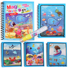 Drawing-Board Painting Magic-Pen Coloring Book Montessori Doodle Kids Toys for
