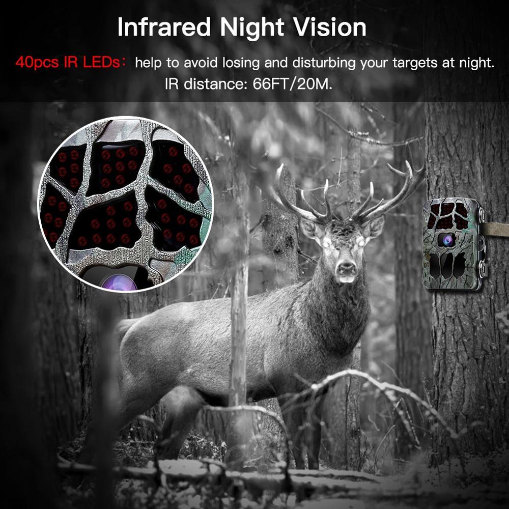 BOBLOV 20MP 1080P chasse caméra 0.2s déclencheur faune caméra Scouting sécurité chasse Trail caméras IP66 4K Photo piège extérieur - 2