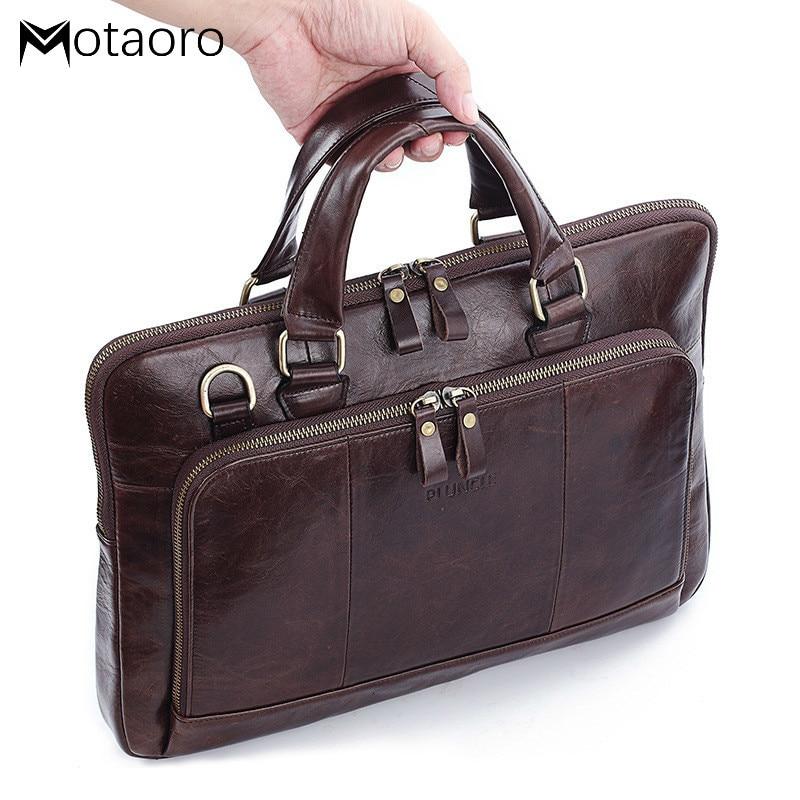 2020 Leather Bags Men Briefcase For Laptop With Leather Casual Business Male Messenger Bag Big Handbag Maleta Ferramenta Bolsas