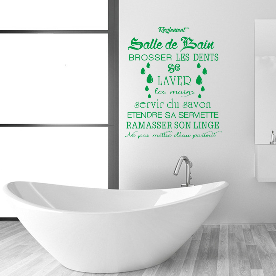 Salle De Bain Low Cost french wall decal bathroom home decoration sticker french