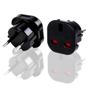 Uniwersalna czarna miedź CE 240V 10A 16A elektryczna klimatyzacja power UK do ue przejściówka 4.0mm 2 piny wielofunkcyjne gniazdo z konwerterem