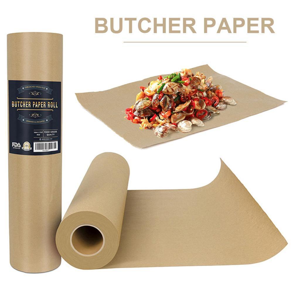Мясная крафт бумага в рулоне пищевая взламывающая бумага все натуральные FDA одобрено для барбекю мяса бумага для приготовления пищи в прочн