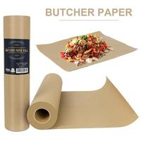 Butcher Kraft Paper Roll Food Grade Acking Paper All natural FDA Approved for BBQ Meats Cooking Paper in Durable Carry Tube
