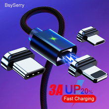 BaySerry Magnetic USB Type C Cable For Samsung S20 Xiaomi Mobile Phone Fast Charging Cord Micro USB C Charger for iphone X Cable magnetic adsorption usb charging cable micro type c lighting for iphone x fast charge charger cord for xiaomi mobile phone cable