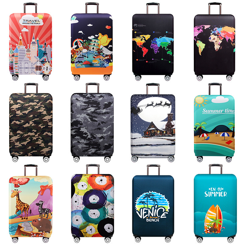 Skull Flower XL 18-32 Inch Luggage Cover Protector Bag Suitcase Cover Protectors Travel Luggage Sleeve Protector S M L XL