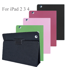 360 Full Cover Case For IPad 2 3 4 Case Hard PU Smart Magnetic Fold Flio Shell Holder Shockproof Funda For IPad 3 4 2 Case Skin for ipad 2 ipad 3 ipad 4 case pu leather tablet cover full protection 9 7 inch drop resistance dog pattern shell