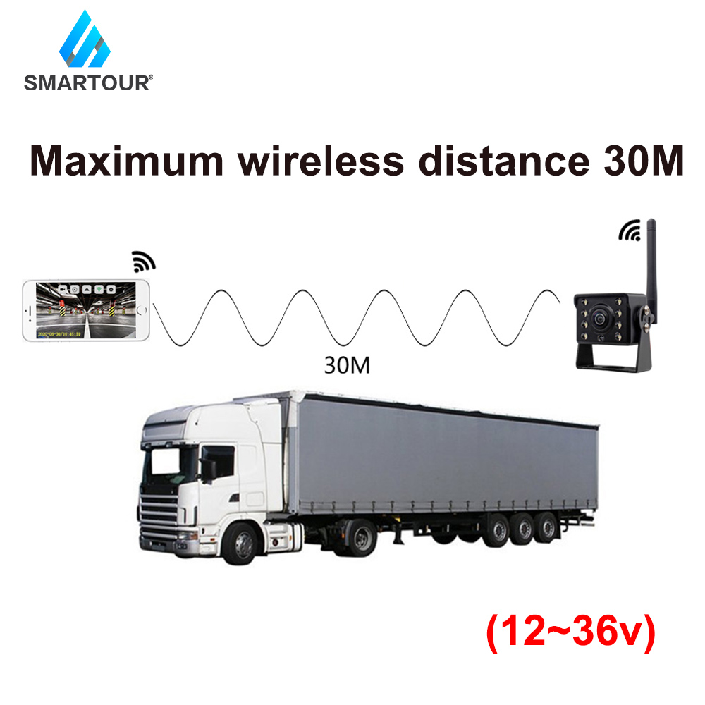 cheapest WiFi Wireless Car Rear View Camera Truck Bus 12V 36V Automobile LED Reverse HD Night Vision Backup Camera For Iphone IOS Android