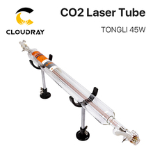 Cloudray corte a laser 800mm 45w co2 vidro tubo para máquina de corte gravura a laser co2 tl TLC800 45