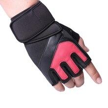 Горячие-половина пальцев перчатки Мужские Спорт на открытом воздухе перчатки для верховой езды дышащие Нескользящие солнцезащитные перчатки