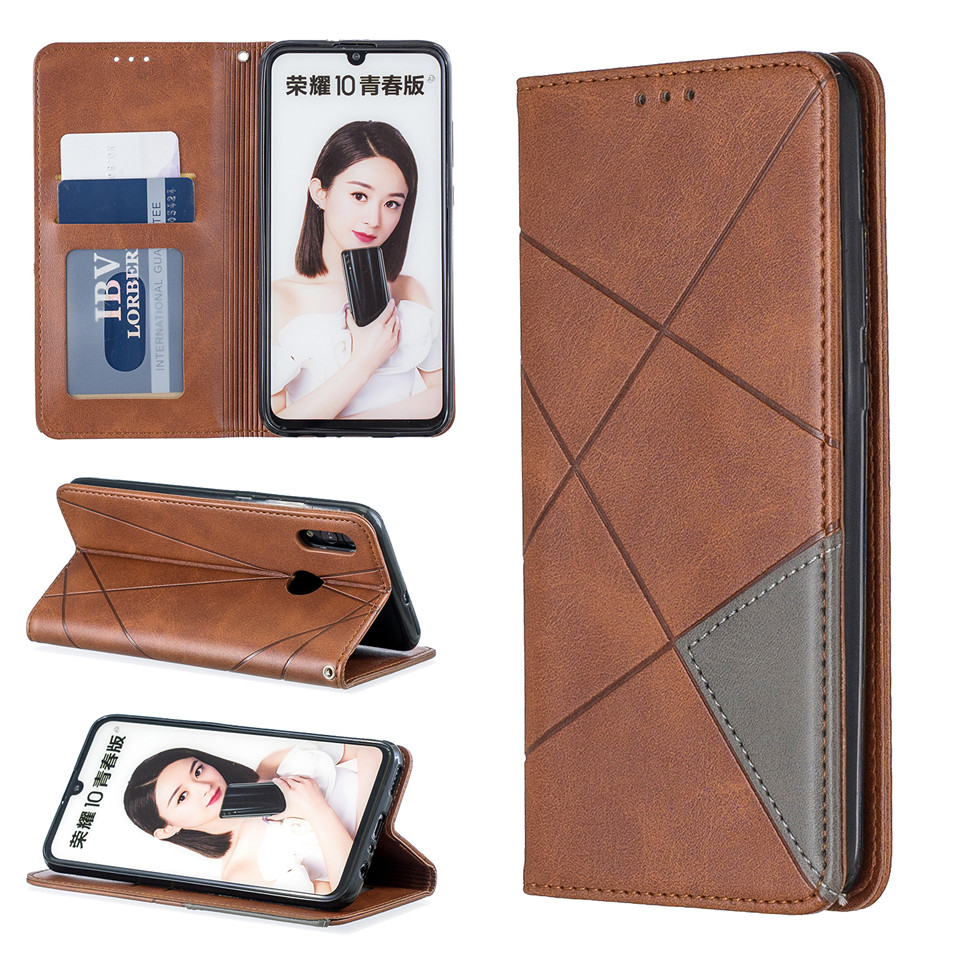 H7d5d10f28e44444e97a648840b46030ef For Huawei Honor 10 Lite Case Leather Wallet Flip Cover Soft Silicone Case for Honor 10i 9X 8A 8S Magnetic Case Card Holder