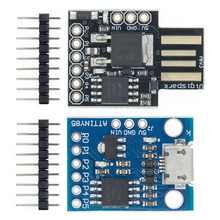 10pcs/lot Blue Black TINY85 Digispark Kickstarter Micro Development Board ATTINY85 module for Arduino IIC I2C USB