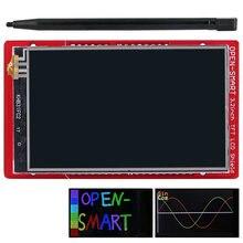 Sensor para arduino uno r3/mega, escudo de tela sensível ao toque, sensor de temperatura interna + caneta para arduino 2560 r3/leonardo