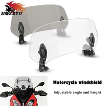 2019 New Motorcycle Adjustable Windshield Extension Wind Deflector For Buell Ulysses XB12X Ulysses XB12XT BRP Can Am SpydeR SM5 joyce j ulysses