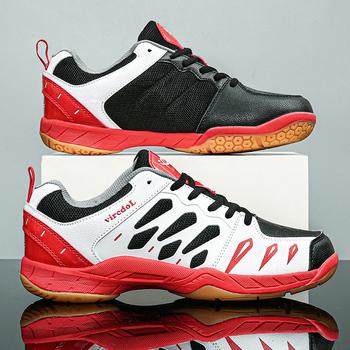 Męskie buty do badmintona damskie profesjonalne buty do siatkówki pary tenisowe buty do biegania sportowe buty sportowe męskie Baseball tanie i dobre opinie ifrich CN (pochodzenie) Spring2019 Dobrze pasuje do rozmiaru wybierz swój normalny rozmiar Siateczka (przepuszczająca powietrze)