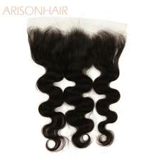 HD lace frontal 13x4 body wave swiss lace Human Hair Transparent Frontals Natural Color Brazilian beauty forever Remy Hair