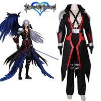 Japan Anime Kingdom Hearts Final Fantasy VII FF7 Final Fantasy Sephiroth cosplay high quality Luxury clothing full set