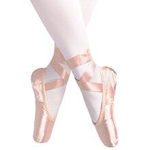 Verkoop Satijn Ballet Pointe Schoenen Professionele Meisjes Dames Ballerina Dans Schoenen Met Linten