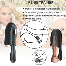 German Male Silicone Flashlight Stroker Masturbation Cup Waterproof Vibrating Penis Glans Training Masturbator Sex Toys