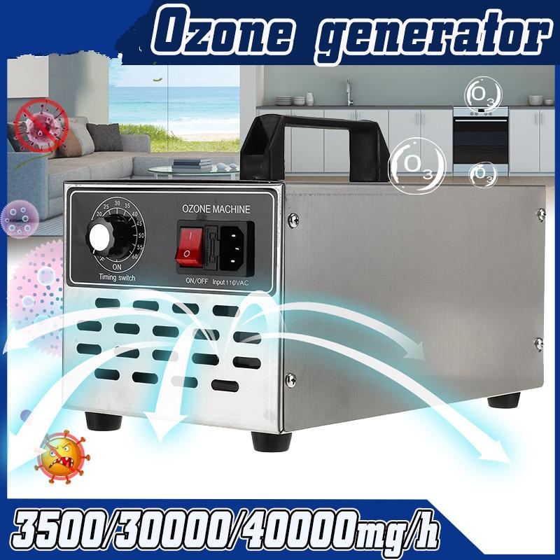 220V/110V Ozone Generator 3.5g/30g/40g Ozonator Ionizer O3 Timer Air Purifiers Water Vegetable Meat Fresh Air Purify