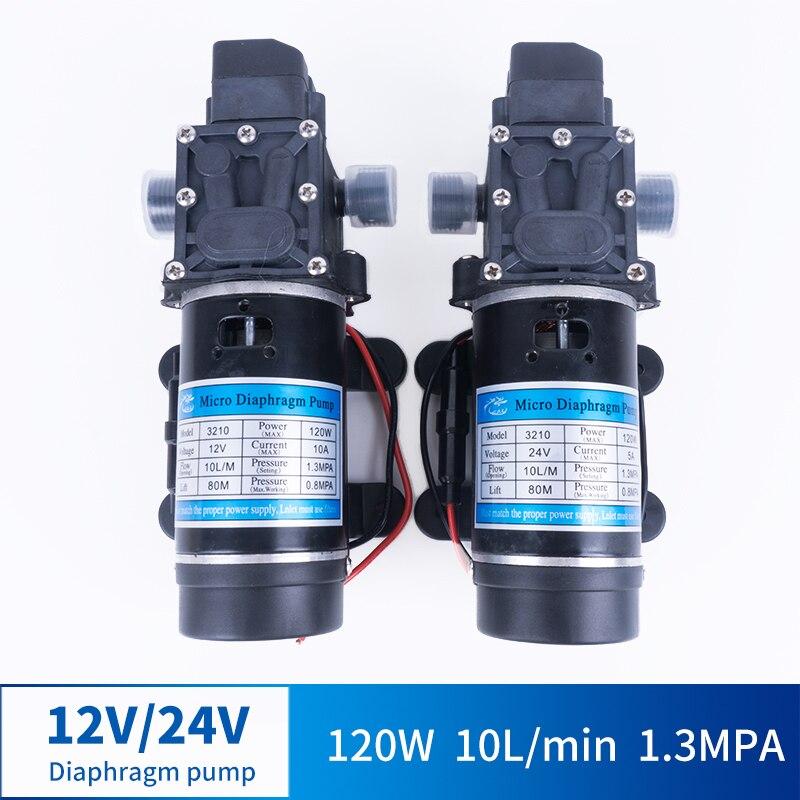 12V 24V 120W 130PSI 10L/Min eau haute pression diaphragme auto-amorçante pompe pulvérisateur lavage de voiture