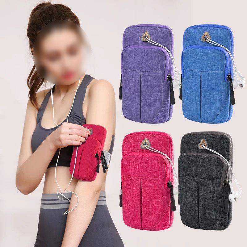 Unisex Mobile Phone Arm Bag Sports Running Fitness Universal Arm Bag Large Capacity Wrist Bag Handbag Pocket Belt