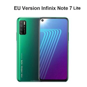 Перейти на Алиэкспресс и купить 2020 Версия ЕС Infinix Note 7 Lite 4 Гб RAM 64 ГБ ROM мобильный телефон Face ID 5000 мАч 6,6 ''48MP Android 10,0 Dual SIM смартфон