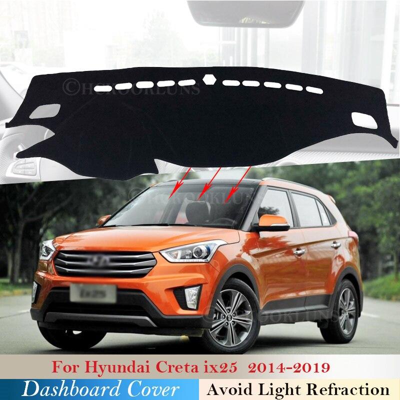 Защитная накладка на приборную панель для Hyundai Creta Ix25 2014 2015 2016 2017 2018 2019 автомобильные аксессуары