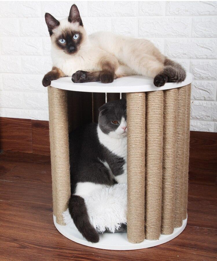 H1 New Cat House Pet Cat Climbing Frame Cat Furniture Grab Board
