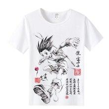 Anime hunter x hunter Mens & Womens 디자인 T 셔츠 GON FREECSS 밀크 와이어 패브릭 티셔츠