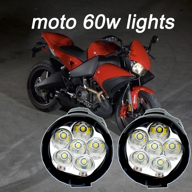 60W LED moto work lights 12v headlights motorcycle 6500k white fog lights spotlights motorbike auxiliary driving lamp headlamp|  - title=