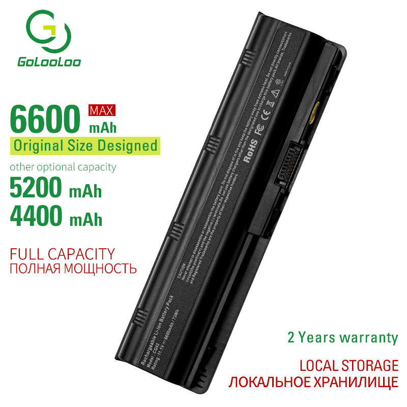 Golooloo 6 cells laptop battery for Hp Envy 17 G42 G62 G72 Pavilion DM4 DV3 DV5 dv6 DV7 For Hp COMPAQCQ32 CQ42 CQ61 CQ62 CQ72
