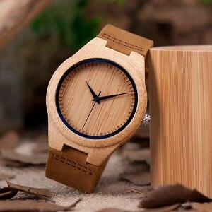 Image 3 - BOBO BIRD zegarki bambusowe dla mężczyzn kwarcowe męskie zegarki na rękę часы мужские montre homme męskie zegarki zegary Dropshipping