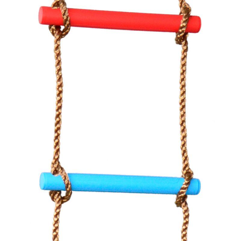 Wooden Rungs PE Rope Ladder Kids Sport Rope Swing Safe Fitness Equipment Child Climbing Indoor Outdoor Garden Toy