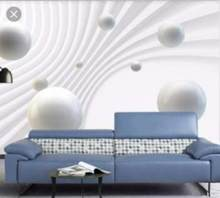 3d mural wallpaper HD Sphere abstract space 3d background Living room bedroom wall wall papers home decor 3d(China)