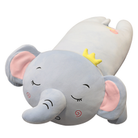 Soft pp cotton filled cartoon animal plush toy pig elephant koala long pillow Sleep with comfortable pillows at home Cute toy