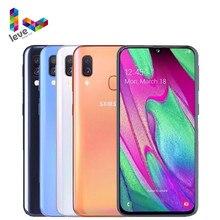 Samsung – téléphone portable Galaxy A40 A405F/DS débloqué, écran de 5.9 pouces, Smartphone, 4 go de RAM, 64 go de ROM, Octa Core, 2 caméras de 16mp, 4G LTE, Android