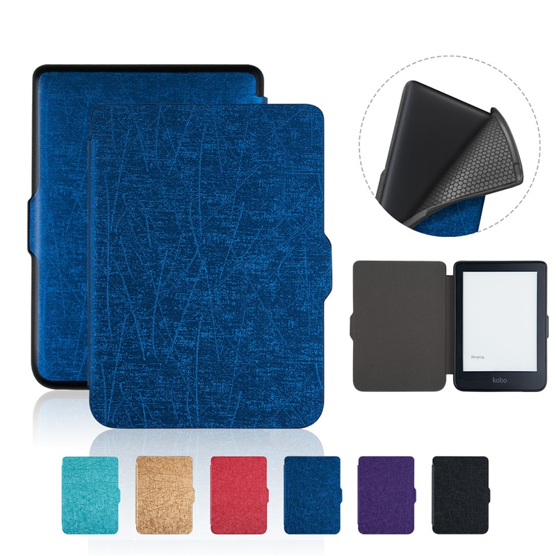 New Case for  Kobo Clara HD 6'' Ereader Solid color TPU cover Case +free Gift|Tablets & e-Books Case| |  - title=