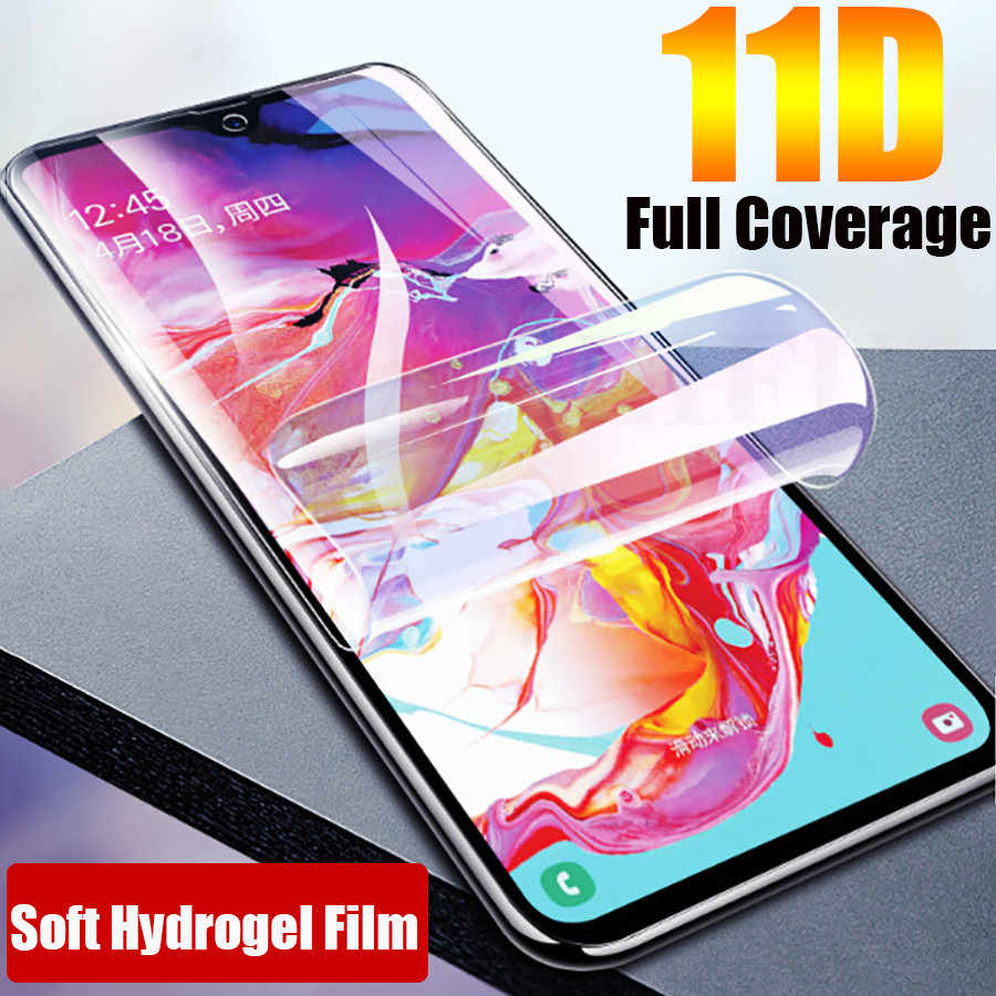 11D Soft Silicone Hydrogel Screen Protector TPU Clear Film For Samsung Galaxy S10 A50 A505F A70 A80 A90 S10 Plus Note 8 9 M10