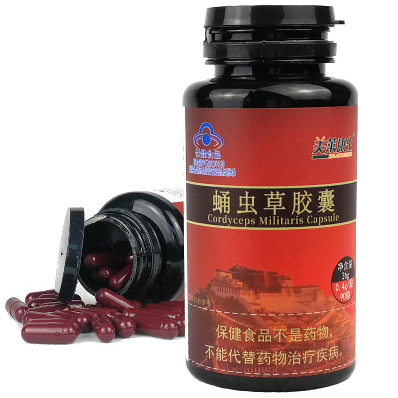 Pure Cordyceps Sinensis Powder Extract Capsule Cordyceps Aweto Chinese Caterpillar Fungus Winterworm Summerherb Powder
