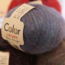 50g Angola Amorous Feelings Thin Mohair Wool Yarn Plush Hand Knitting Supplies C63B