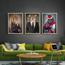 5D Fashion Lion Dog Elephant Bird Wolf Wall Art Canvas DIY Diamond Painting Nordic Posters Style Handmade Animal Embroidery