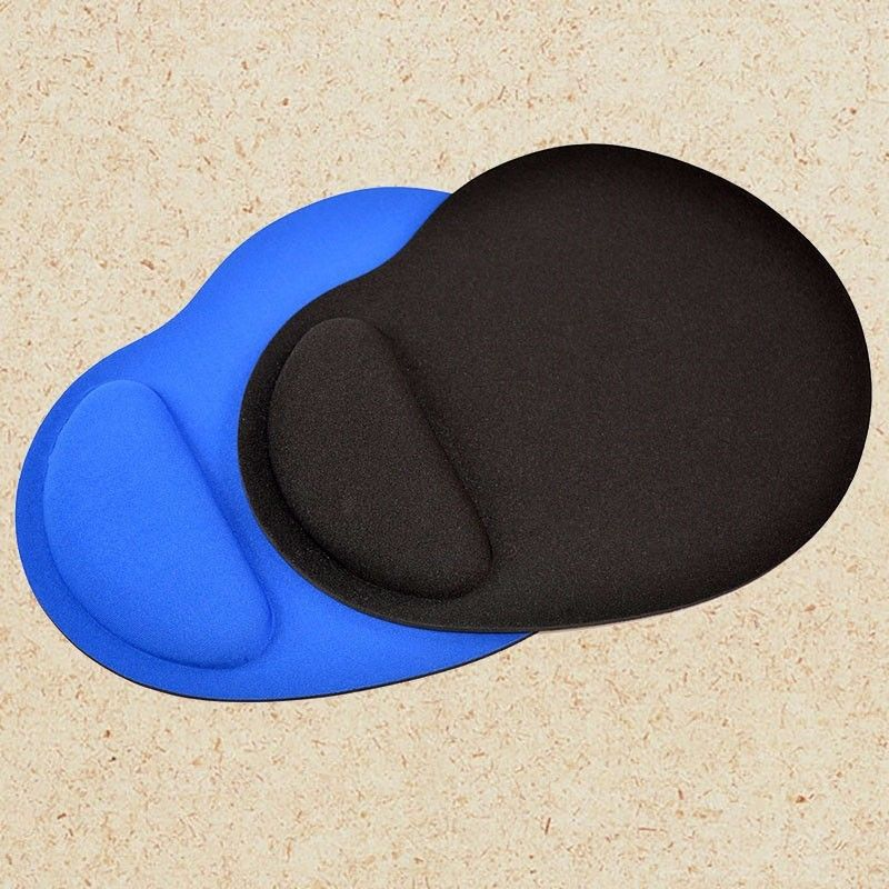 Mouse Pad With Wrist Protect For Computer Laptop Notebook Mouse Mat Comfort Wrist Rest Support Game Office Black Blue Muismat