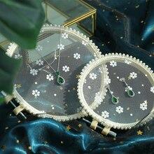 Gaas Schijf Foto Achtergrond Versiering Fotografie Props Voor Vingernagel Oorbellen Sieraden Cosmetische Schieten Decoraties Items
