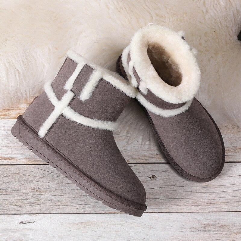 Mulher botas Curtas Vasilha Inverno Espessamento Mantenha Quente Não-deslizamento Sapatos Snowfield Fundo Plano Botas de Algodão das Mulheres Zapatos mujer
