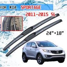 Para kia sportage 2011 2012 2013 2014 2015 sl acessórios da janela dianteira windscreen limpador lâmina escovas para cortador de carro u j gancho