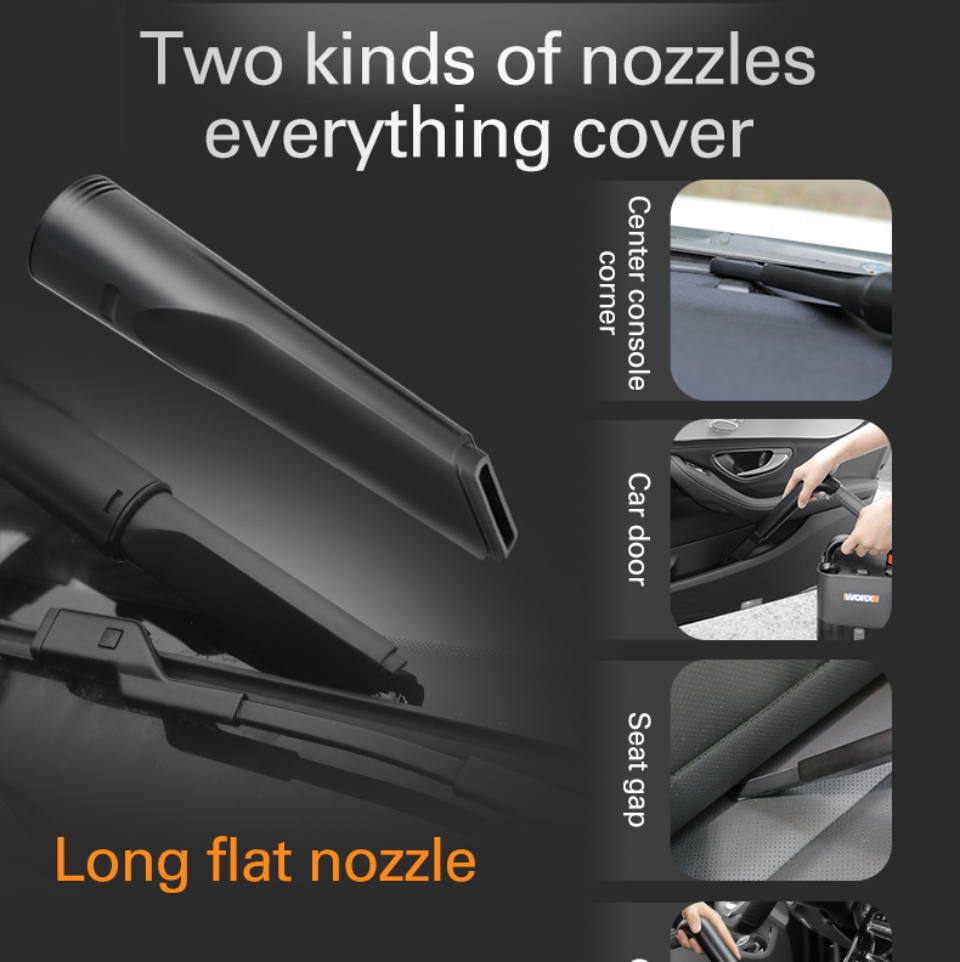 Nozzles comes with Worx Vacuum Cleaner