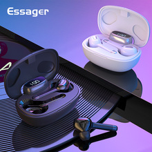 Essager T9S TWS Bluetooth True Wireless Earphone Headphone Mini Cordless Earbuds With Mic Handsfree Headset For Xiaomi iPhone