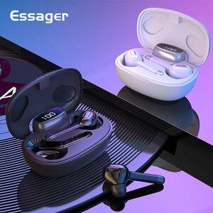 Image 1 - Essager T9S TWS Bluetooth Vero Auricolare Senza Fili Della Cuffia Mini Cordless Auricolari Con Microfono Vivavoce Auricolare Per Xiaomi iPhone
