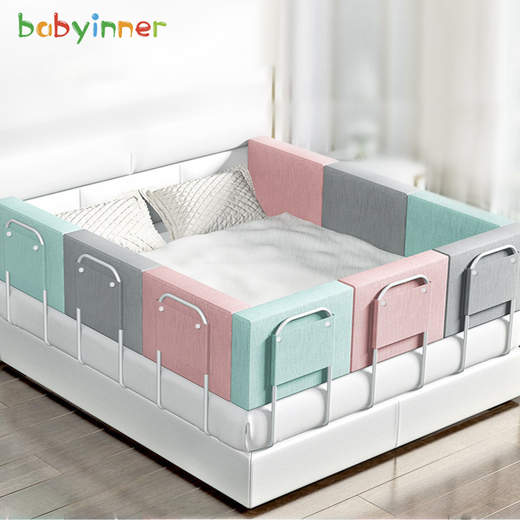 Baby Inner Crib Fence Adjustable Baby Safe Shatter-resistant Anti-out Soft Pack Bed Guardrail Universal  Bumper